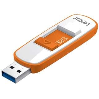 Lexar JumpDrive S75 USB 3.0フラッシュドライブ 32GB LJDS75-32GABAP オレンジ [32GB /USB3.0 /USB TypeA /スライド式]