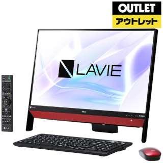 【アウトレット品】 23.8型モニター一体型デスクトップPC [Win10 Home・Celeron・HDD 1TB・メモリ 4GB・Office付] LAVIE Desk  PC-DA370KAR ラズベリーレッド 【生産完了品】