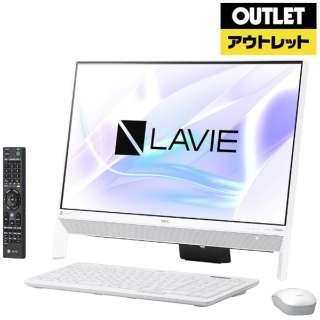 【アウトレット品】 23.8型デスクトップパソコン [Win10 Home・Celeron・HDD 1T・メモリ 4GB・Office付] LAVIE Desk  PC-DA370KAW ファインホワイト 【生産完了品】