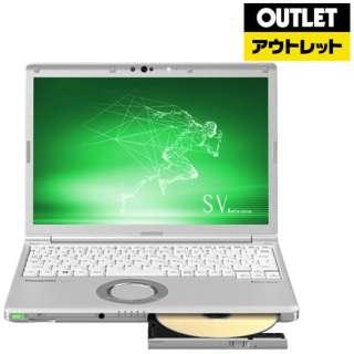 【アウトレット品】 12.1型ノートPC [Win10 Pro・Core i5・SSD 256GB・メモリ 8GB・SIMフリー・Office付] Let's note(レッツノート) SVシリーズ CF-SV8CFGQR シルバー 【外装不良品】