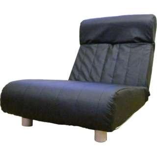 【座椅子】一人掛け プログレッソ脚つきタイプ (レザー/ブラック)