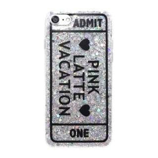 iPhone8/7[ADMIT ONE] / ラメシリコンケース md-74231SLV シルバー