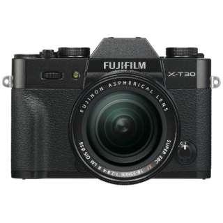 X-T30-B ミラーレス一眼カメラ XF18-55mmレンズキット ブラック [ズームレンズ]