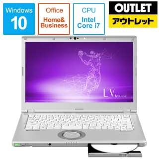 【アウトレット品】 14.0型ノートPC [Office付・Core i7・SSD 512GB・メモリ 8GB] Let's note(レッツノート) LVシリーズ  CF-LV7DDVQR シルバー 【生産完了品】