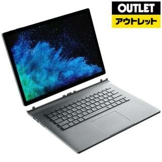 【アウトレット品】 15.0型Windowsタブレット [Office付・Core i7・SSD 512GB・メモリ 16GB] Surface Book2 FUX-00010 シルバー 【生産完了品】