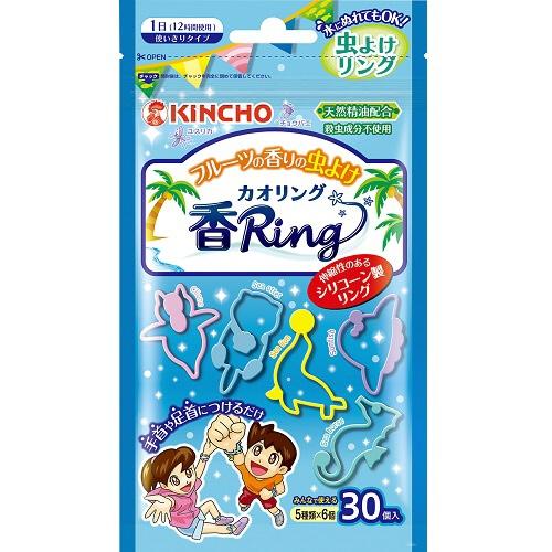 大日本除虫菊 虫よけ香リング カオリング ブルー フルーツの香り 1パック 30個 大日本除虫菊