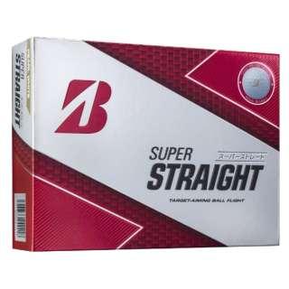 【スリーブ単位販売になります】ゴルフボール SUPER STRAIGHT《1スリーブ(3球)/パールホワイト》SSGX