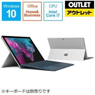 【アウトレット品】 Surface Pro 6[12.3型 /SSD:256GB /メモリ:8GB /IntelCore i7/シルバー/2019年1月モデル]KJU-00027 Windowsタブレット サーフェスプロ6 【外装不良品】