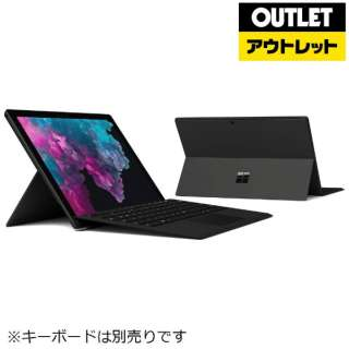 【アウトレット品】 12.3型Windowsタブレット [Office付・Core i5・SSD 256GB・メモリ 8GB] サーフェス プロ6 KJT-00028 ブラック 【外装不良品】