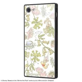 iPhone SE(第2世代)4.7インチ/ iPhone 8 / 7 /『ディズニーキャラクター』/耐衝撃ガラスケース KAKU IQ-DP7K1B/PO008 『くまのプーさん/ナチュラル』