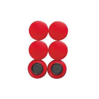 シンワ測定 強力カラー磁石ヨーク付20φ赤6入 A764-72052