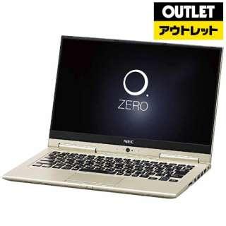 【アウトレット品】 13.3型ノートPC [Office付・Core i3・SSD 128GB・メモリ 4GB]  LAVIE Hybrid ZERO  PC-HZ350GAG プレシャスゴールド 【外装不良品】
