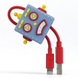 TUNEWEAR CableArt ロボット Lightningケーブル 18cm (MFi取得) ブルー TUN-OT-000025c [0.18m]