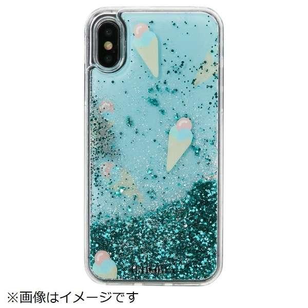 iPhone X/XS TPUケース Ice Cream Mint