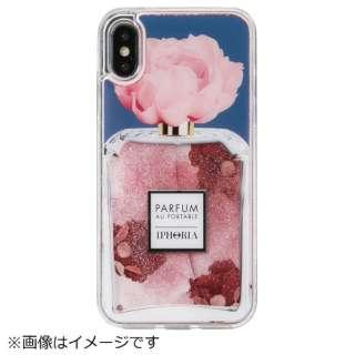 iPhone X/XS TPUケース Perfume Flower Blue