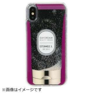 iPhone X/XS TPUケース Handcream Purple Stars