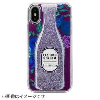 iPhone X/XS TPUケース Fashion Soda Purple