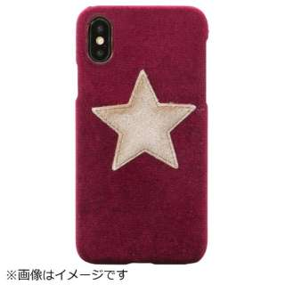 iPhone X/XS TPUケース Purple Velvet Mustard Star