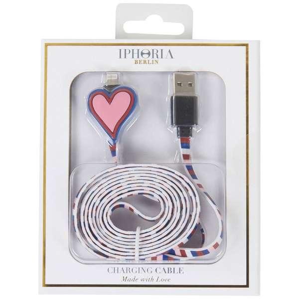 USBライトニングケーブル Heart Red Rosa