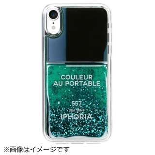 iPhone XR TPUケース Nail Polish Turquoise