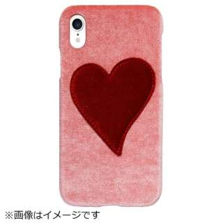 iPhone XR PUケース Pink With Red Heart