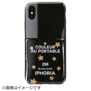 iPhone X/XS TPUケース Nailpolish Black Star