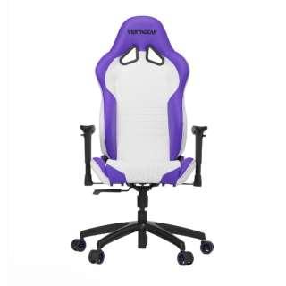 VG-SL2000_WP ゲーミングチェア Racing Series SL2000 Gaming Chair ホワイト&パープル