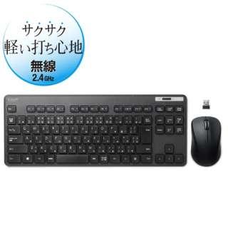 TK-FDM109MBK 無線薄型コンパクトキーボード・マウス ブラック [USB /ワイヤレス]