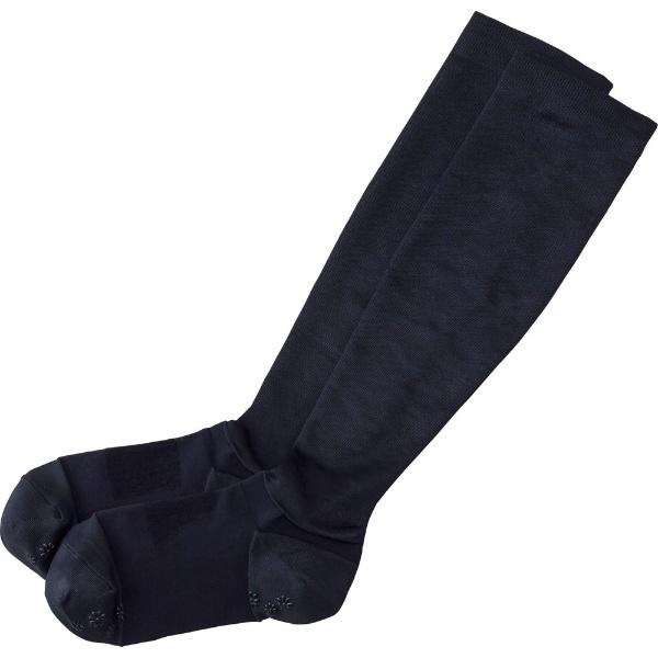 ハクゾウメディカル ハクゾウ 足もとサポートソックス ブラック Sサイズ 22-24cm