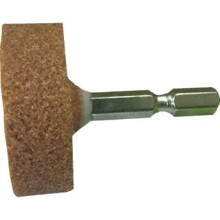RELIEF 六角軸 軸付砥石 金属用(WA) 平型 φ38×13mm 27803