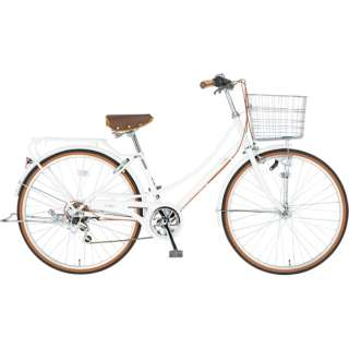 26型 自転車 EAST BOY カジュアルファミリー(ホワイト/外装6段変速) 19EB266CF【2019年モデル】 【組立商品につき返品不可】