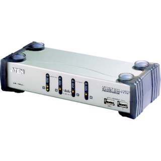 ATEN KVMP[[TM上]]スイッチ 4ポート/USB/VGA/オーディオ/USB2.0ハブ2ポート CS1734A