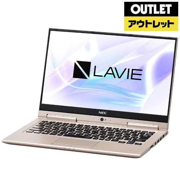 【アウトレット品】 13.3型ノートPC [Win10 Home・Core i7・SSD 512GB・メモリ 8GB] LAVIE Hybrid ZERO PC-HZ750LAG フレアゴールド 【外装不良品】