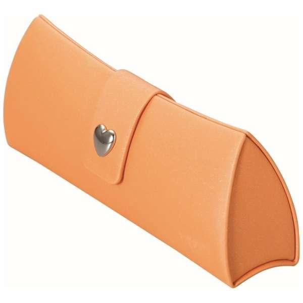 アルミハード メガネケース(オレンジ)2085-03