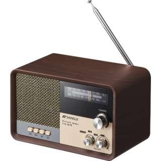 ラジオ付 ブルートゥーススピーカー MSR-1WD 木目