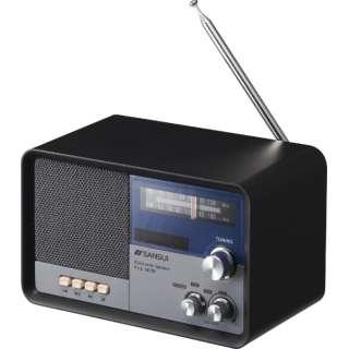 ラジオ付 ブルートゥーススピーカー MSR-1BK 黒