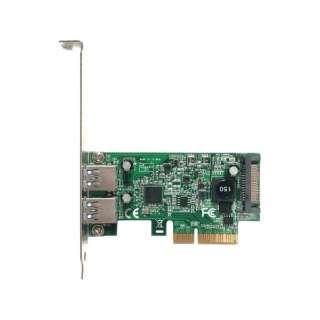 玄人志向 拡張IF PCI Express x4接続 USB3.1 Type-A x2 増設ボード USB3.1A-P2-PCIE3