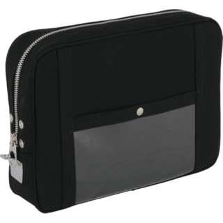 SANEI 帆布メール用ポーチ(LL)馬蹄錠金具付 黒 PLL-U-01