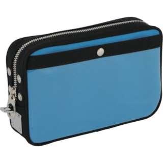 SANEI 帆布メール用ポーチ(S)馬蹄錠金具付 ブルー PS-U-09