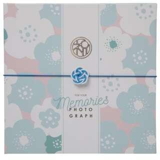 お祝い写真台紙V-700(祝) 2L2面 ブルー 15518-8 ブルー [タテヨコ兼用 /2Lサイズ・キャビネサイズ /2面]