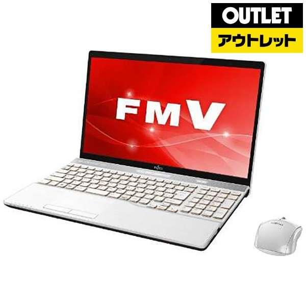 【アウトレット品】 15.6型ノートPC [Office付・Core i7・HDD 1TB・SSD 128GB・メモリ 8GB] LIFEBOOK(ライフブック)  FMVA77C2W プレミアムホワイト 【外装不良品】
