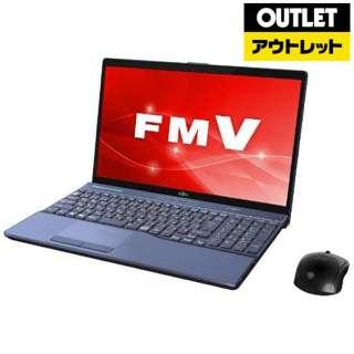 【アウトレット品】 15.6型ノートPC [Office付・Core i7・HDD 1TB・SSD 128GB・メモリ 8GB] LIFEBOOK(ライフブック)  FMVA77C2L メタリックブルー 【外装不良品】