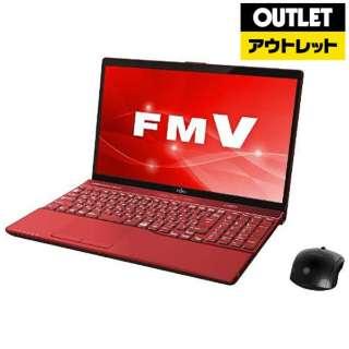 【アウトレット品】 FMVA53C2R ノートパソコン LIFEBOOK(ライフブック) ガーネットレッド [15.6型 /intel Core i7 /HDD:1TB /メモリ:8GB /2018年7月モデル] 【外装不良品】