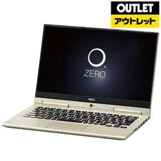 【アウトレット品】 13.3型ノートPC [Win10 Home・Core i7・SSD 256GB・メモリ 8GB・Office] LAVIE Hybrid ZERO PC-HZ750GAG プレシャスゴールド 【外装不良品】