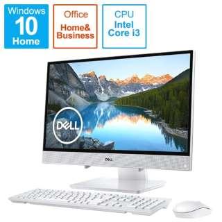 21.5インチデスクトップPC[Office付き・Win10・インテル Core i3-8145U・16GB インテル Optane メモリー+1TB/HDD5400回転・メモリ4GB] Inspiron 22 3000 3280 ホワイト FI336T-9HHBW (2019年春モデル) FI336T-9HHBW [21.5型 /HDD:1TB /Optane:16GB /メモリ:4GB]