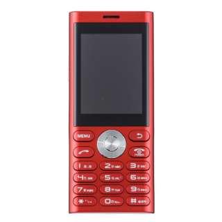 un.mode phone01「UM-01R」レッド 2.4型・標準SIMx1 ドコモ/ソフトバンク3G対応 SIMフリー携帯電話