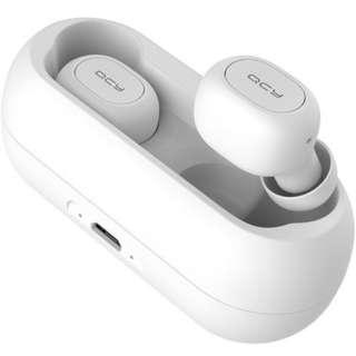 フルワイヤレスイヤホン ホワイト QCY-01WH [リモコン・マイク対応 /ワイヤレス(左右分離) /Bluetooth]