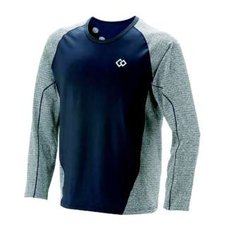メンズ シャツ コラントッテ レスノ スイッチングシャツロングスリーブ(Sサイズ/グレー×ネイビー) AJDJA68S