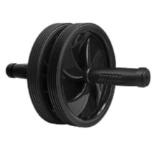 健康グッズ トレーニング器具 腹筋ローラー 静ゴロー(ブラック幅18×高さ18×奥行26cm) 3B-4020