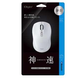 MUS-BKT163W マウス Digio2 ホワイト [BlueLED /3ボタン /Bluetooth /無線(ワイヤレス)]